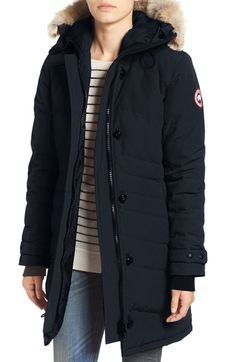 CANADA GOOSE 'Lorette' Hooded Down Parka with Genuine Coyote Fur Trim. #canadagoose #cloth #