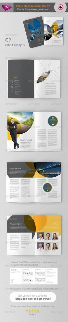 Free annual report design templates annual report for Multi page brochure template free