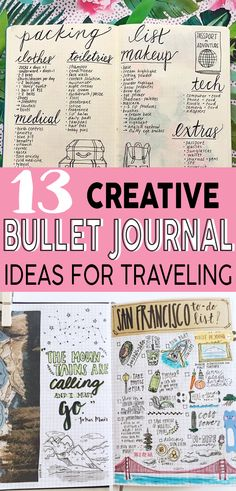 These bullet journal ideas will definitely help me plan and document my next vacation! #bujo #bulletjournal #travel