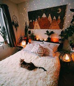 Bohemian Bedroom Decor, Decor Room, Cozy Bedroom, Home Decor, Trendy Bedroom, Autumn Decor Bedroom, Modern Bohemian Bedrooms, Modern Bedroom, Bohemian Room