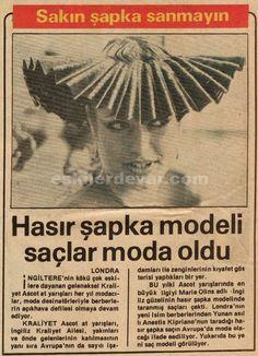 Hasır şapka modeli saçlar moda oldu.. 1981