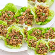 P. Chang's Chicken Lettuce Wraps (Copycat P. Chang's Chicken Lettuce Wraps {Copycat Recipe} - Skip the restaurant version and make at home in 20 minutes! EASY, healthier because you're controlling the ingredients, and they TASTE WAY BETTER! Healthy Recipes, Asian Recipes, Cooking Recipes, Free Recipes, Thai Cooking, Healthy Foods, Cooking Tips, Healthy Meats, Fast Healthy Meals
