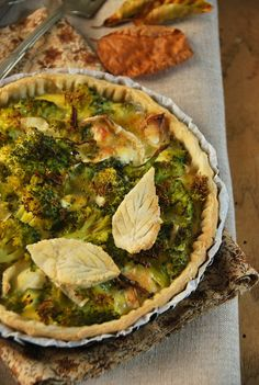 Tarte au fromage de chèvre et broccoli // Brocoli and goat cheese pie