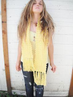 15 OFF SALE Handmade 1960s scarf perfect by ArieleSierraDesigns, $10.99