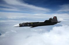 Russian Patrol - russian, jet, aircraft, clouds, sky, airplane