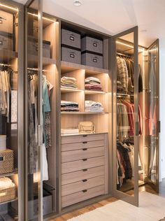 38 Wonderful Walk In Closet Design Ideas With Low Budget - Have you ever considered how much walk in closet designs could improve your life and save you time? How many of you have had one of those mornings, yo. Walk In Closet Design, Bedroom Closet Design, Master Bedroom Closet, Closet Designs, Wardrobe Design, Dressing Room Closet, Dressing Room Design, Wardrobe Room, Closet Layout