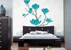 Tree Branch Blossom Wall Decal Flower Floral Large Magnolia