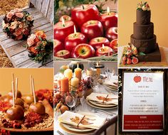 Rich Orange and Red Fall Thanksgiving Weddings