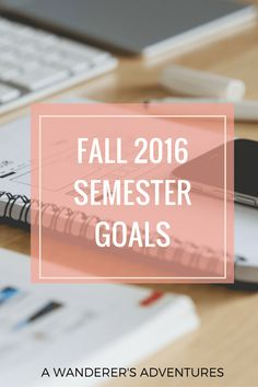 Setting up goals is a great way to stay motivated in college (and in life in general). Wondering what are mine for the fall 2016 semester? Click through to read about my goals!
