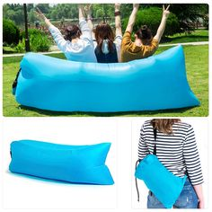 Ebeautyday Fashion Hangout Outdoor/Indoor Lounger Fast Inflatable Couch Air Bed Sofa Chair,Inflating Camping Sleeping Pad, Lying Pad,Nylon Fabric Compression Air Bag for Beach,Travelling,Hospitality,Fishing & Other Outdoor Gathering