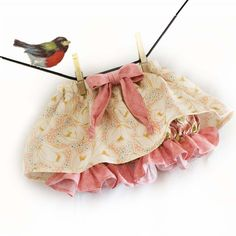 PDF Pattern Baby Ruffle Skirt with Attached Diaper by VintageToNew,