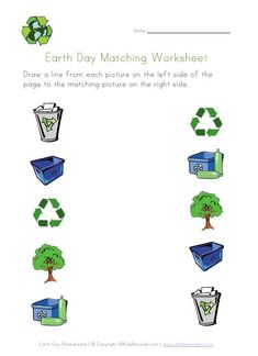 Check out our selection of printable Earth Day worksheets for kids. We have a variety that range from recycling, to living things, and more Earth themed worksheets. Earth Day Worksheets, Earth Day Activities, Kindergarten Worksheets, Worksheets For Kids, Printable Worksheets, Printable Coloring, Preschool Activities, Printables, April Preschool