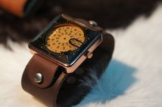 LEATHER WATCH. $39.00, via Etsy.
