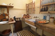 Another view.  I have a similar knife cleaner. Uppark, Restoration and 18th Century Cheesecake