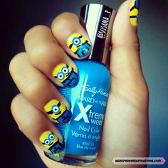 Despical Me Minion nails art