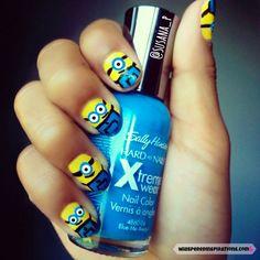 Despical Me Minion nails art