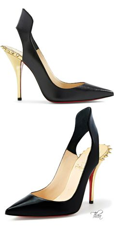 Christian Louboutin ● Flared Pointy Toe Pump