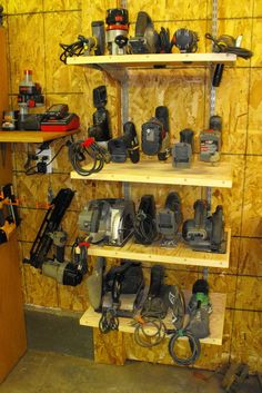 Workshop Storage Organisation Inspiratons There are several different forms of storage to pick from. After lighting, it is perhaps the next most important aspect of an efficient workshop. Workshop storage may also help keep a tidy garage w… Workshop Storage, Workshop Organization, Garage Workshop, Garage Organization, Organization Ideas, Organized Garage, Workshop Plans, Organizing, Workshop Ideas