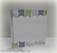 Lovely Stamping, Stampin'Up, Banner blast -wisteria, wasabi, smoky slate