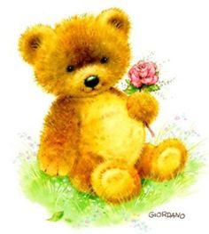 Belles illustrations de G.Giordano /Tulip et Marigold Tatty Teddy, Art D'ours, Bear Gif, Art Mignon, Love Bears All Things, Teddy Bear Pictures, Creation Photo, Cute Teddy Bears, Cute Clipart