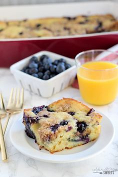 Thick and fluffy baked Blueberry Buttermilk Pancake Casserole. Perfect for serving a crowd!
