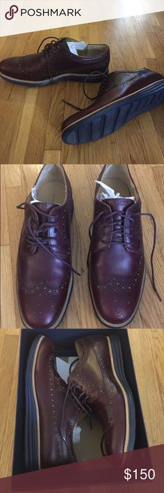 **NEW*** Cole Haan Lundergrand Burgandy Wingtips Brand new in original box, never worn.  Cole Haan Lundergrand Burgandy Wingtips   Mens Size 12 Cole Haan Shoes Oxfords & Derbys