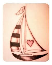 Sailboat tattoo - if I were to get a tattoo, this would be it.
