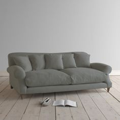 Large Crumpet in wolf brushed cotton - Sofas | Loaf