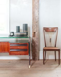 A gorgeous green trio in suede, marble and brass by Belgian designer with Michael Verheyden. With a Paolo Buffa chair and Mid-Century desk. http://monc13.com/