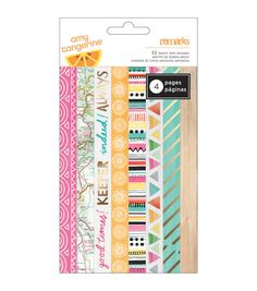 American Crafts Amy Tan Rise & Shine Washi Tape Strips