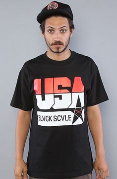 The Team USA Tee in Black by BLVCK SCVLE