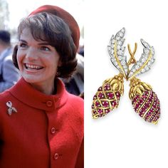The original pin was a gift from JFK to Jackie to celebrate the birth of their son, John Kennedy Jr. on Nov. This is a beautiful reproduction by Camrose and Kross. Jacqueline Kennedy Jewelry, Jacqueline Kennedy Onassis, Jackie O's, Diana Vreeland, Timeless Beauty, Girls Best Friend, Her Style, Vintage, Celebrities