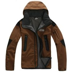 North Face Brown Windstopper Jacket Mens BJ130157