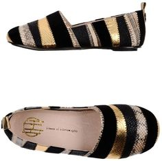 House Of Harlow Black Ballet Flats