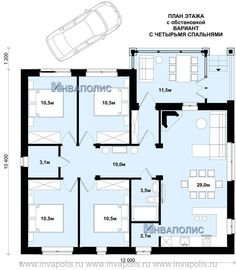 планировка пяти квартирного одноэтажного дома с гаражом: 15 тыс изображений найдено в Яндекс.Картинках