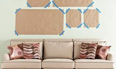 How to hang artword for staging and decorating!  Virtual Staging