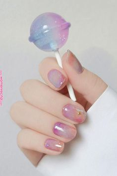 nail art designs for spring ; nail art designs for winter ; nail art designs with glitter ; nail art designs with rhinestones Cute Acrylic Nails, Cute Nails, Pretty Nails, Painted Acrylic Nails, Purple Nail, Gold Nail, Ombre Nail, Purple Glitter, Nail Gradient