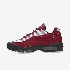 Nike Air Max Mens, Nike Men, Red Nike Shoes, Air Max Sneakers, Sneakers Nike, Fall Fashion, Mens Fashion, Gentleman Shoes, Funky Shoes