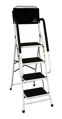 Allstar Innovations Simple Step 2 In 1 Step Stool And Ladder With Safety Rail Step Stool Ladder Kitchen Safe