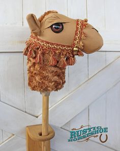 Camel Ride-On Toy Stick Horse Humphrey Brown Camel Craft, Alpacas, Felt Crafts, Diy And Crafts, Diy For Kids, Crafts For Kids, Nativity Costumes, Stick Horses, Camelo