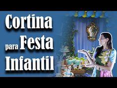 Como fazer uma Cortina para Festa Infantil | Andreia Faleiros - YouTube