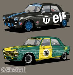 "Les illustrations de christophe: Peugeot 204 ""RACING"" ELF & BP (#2)"