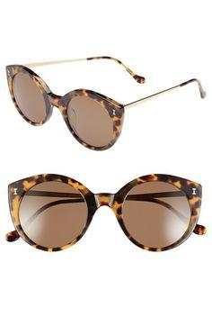 Illesteva 'Palm Beach' 50mm Round Sunglasses #Nordstrom
