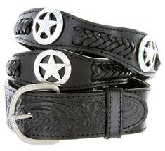 Mens Western Star Conchos Genuine Leather Braided Cowboy Belt  11  2 u0026quot  db2f53e89c8
