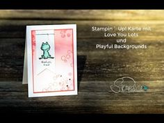 Stampin´ Up! Karte mit Playful Backgrounds und Love you Lots