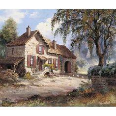 Peacefull Canvas Art – Reint Withaar x – Marie-Reine Waltzing – Join the world of pin Landscape Photos, Landscape Art, Landscape Paintings, Watercolor Landscape, Watercolor Art, Pintura Exterior, Thomas Kinkade, Dutch Artists, Beautiful Paintings