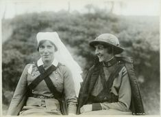 """Canadian nurses in dress service uniforms, George Metcalf Archival Collection CWM 19920085-353. This photo appears on the cover of the new book, Women Heroes of World War I, reviewed by Rupert Colley of """"History in an Hour"""" here: http://www.historyinanhour.com/2014/06/26/women-heroes-of-world-war-one-review/"""