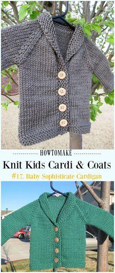 27 Trendy Ideas Knitting For Kids Cardigans Children Toddler Knitting Patterns Free, Baby Cardigan Knitting Pattern, Knitting For Kids, Free Knitting, Knitting Ideas, Crochet Jumper, Toddler Cardigan, Cardigan Bebe, Pull Crochet
