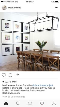 Frame and photo size for gallery wall