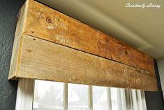 diy rustic window valances, rustic furniture, window treatments, windows